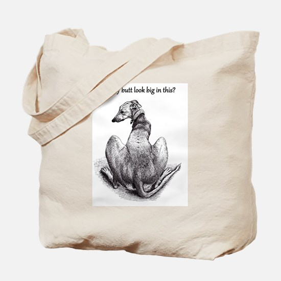 Funny Sighthound Tote Bag