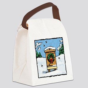 Christmas Bees Canvas Lunch Bag