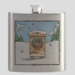 Christmas Bees Flask