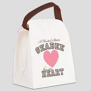 ausseabeehasmyheart Canvas Lunch Bag