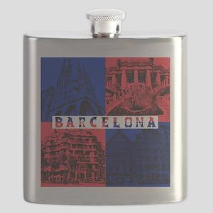 Barcelona_10x10_apparel_AntoniGaudí_BlueRed Flask