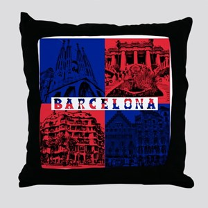 Barcelona_10x10_apparel_AntoniGaudí_ Throw Pillow