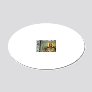 icon of Saint Barnabas at th 20x12 Oval Wall Decal