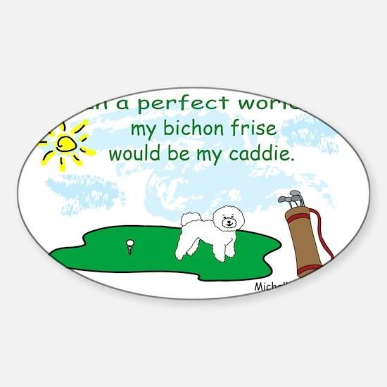 BichonFrise Sticker (Oval)