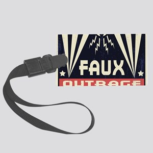 faux-outrage-LG Large Luggage Tag