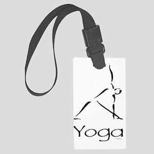Yoga Pose Large Luggage Tag