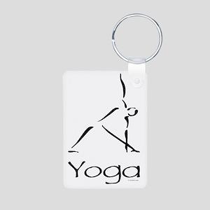 Yoga Pose Aluminum Photo Keychain
