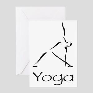Yoga greeting cards cafepress yoga pose greeting card m4hsunfo