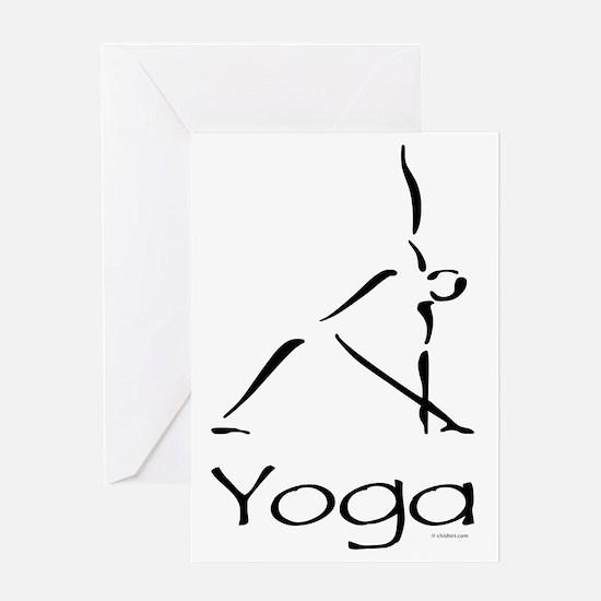 Yoga Pose Greeting Card
