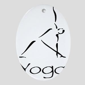 Yoga Pose Oval Ornament