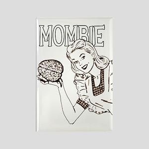 Mombie Retro Zombie Clr Rectangle Magnet