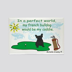 FrenchBulldogBlk Rectangle Magnet