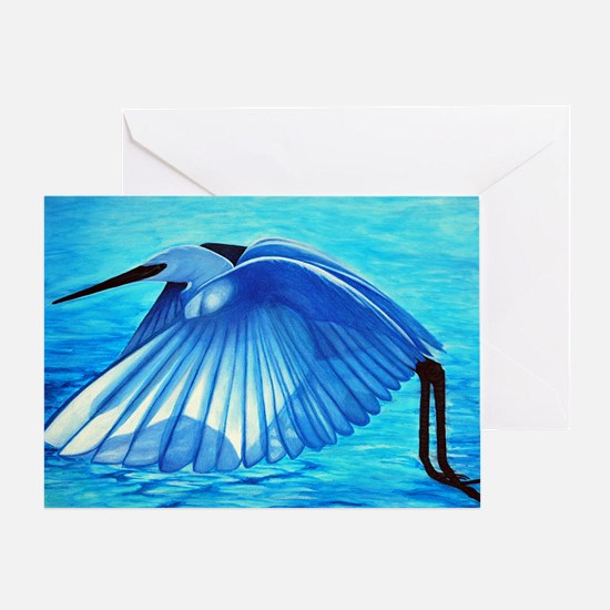 snowy_egret-large Greeting Card