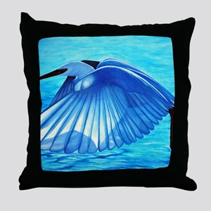 snowy_egret-large Throw Pillow
