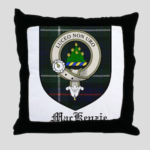 MacKenzie Clan Crest Tartan Throw Pillow