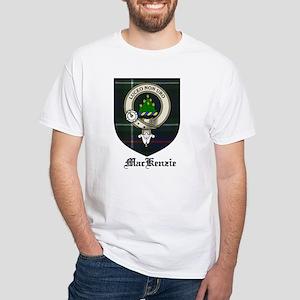 MacKenzie Clan Crest Tartan White T-Shirt