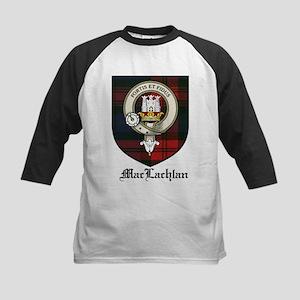 MacLachlan Clan Crest Tartan Kids Baseball Jersey