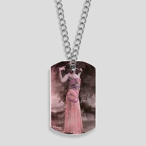 Lunagirl vintage bellydancing pink/peach Dog Tags