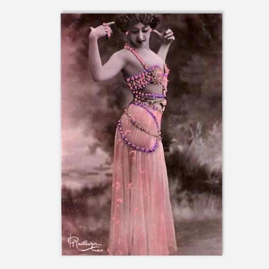 Lunagirl vintage bellydan Postcards (Package of 8)