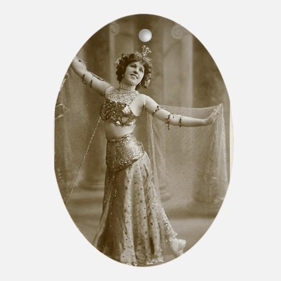 Lunagirl vintage bellydancer Oval Ornament