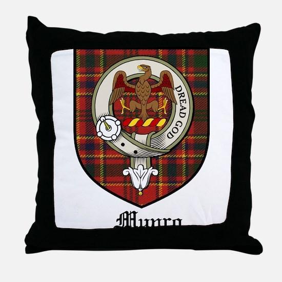 Munro Clan Crest Tartan Throw Pillow