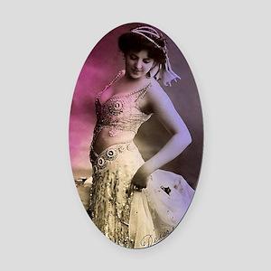 Lunagirl vintage bellydance pink/y Oval Car Magnet