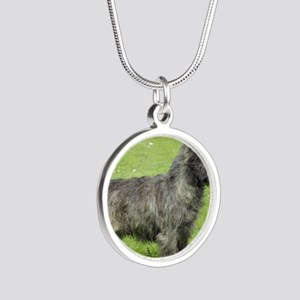 Cairn Terrier 9Y004D-024 Silver Round Necklace