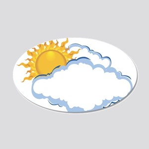 Partly Sunny Wall Decal