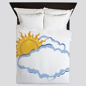 Partly Sunny Queen Duvet