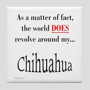 Chihuahuas World Tile Coaster