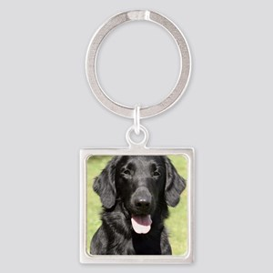 Flat Coated Retriever 9Y040D-040 Square Keychain