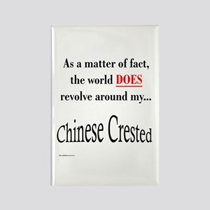Chinese Crested World Rectangle Magnet