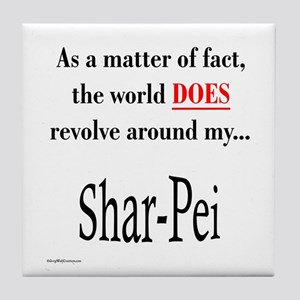 Shar Pei World Tile Coaster