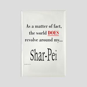 Shar Pei World Rectangle Magnet