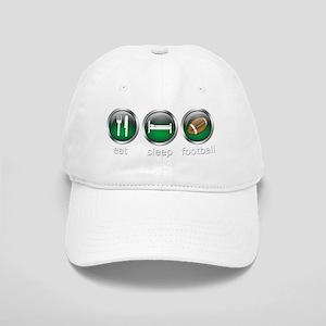 Eat Sleep Football : Green Cap