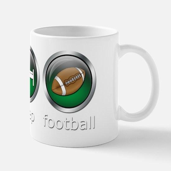 Eat Sleep Football : Green Mug