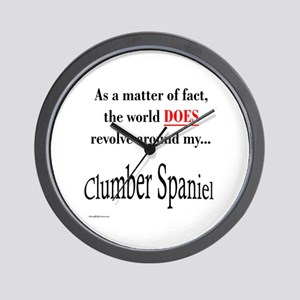 Clumber Spaniel World Wall Clock