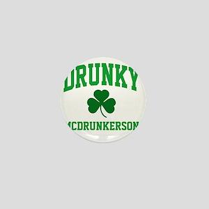 Drunky M Mini Button