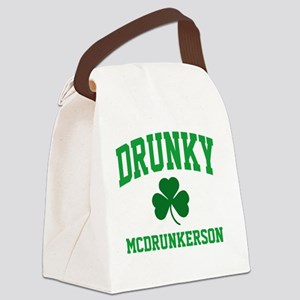 Drunky M Canvas Lunch Bag
