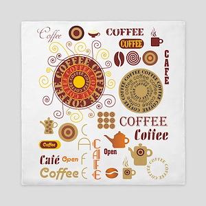 Coffee Cafe Queen Duvet