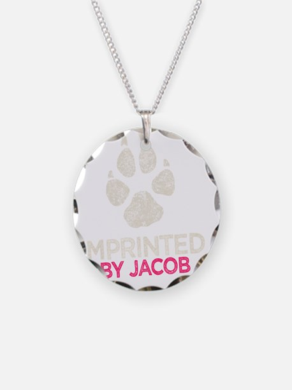 Imprinted Pink -dk Necklace
