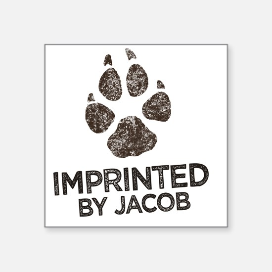 "Imprinted Square Sticker 3"" x 3"""