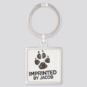 Imprinted Square Keychain