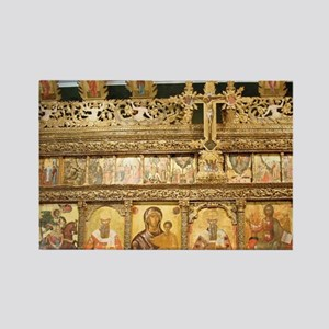 Wooden iconostasis of the church  Rectangle Magnet