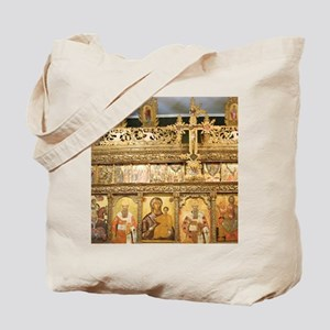 Wooden iconostasis of the church of St. D Tote Bag