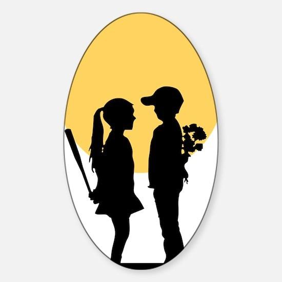 lover girl3 Sticker (Oval)