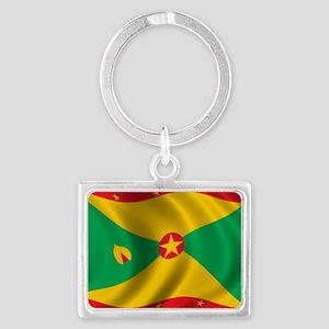 grenada_flag Landscape Keychain