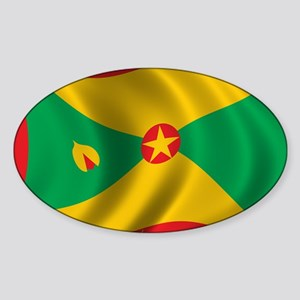 grenada_flag Sticker (Oval)