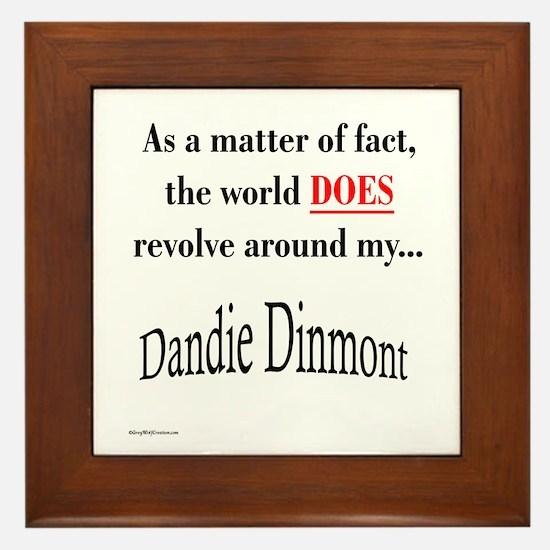 Dandie World Framed Tile