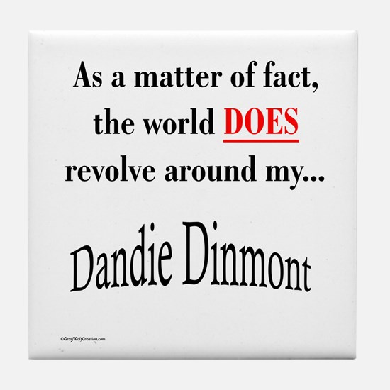 Dandie World Tile Coaster